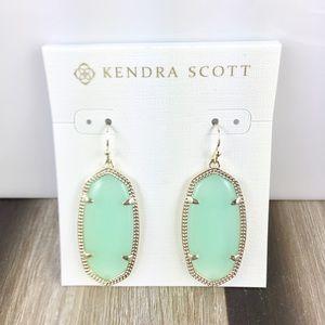 Kendra Scott Elle chalcedony gold  earrings